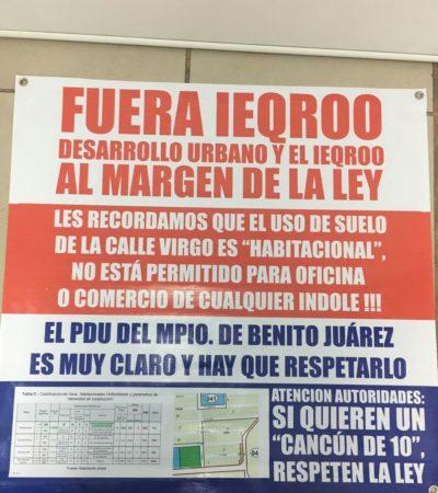 Insisten vecinos de la SM 15 de Cancún en el rechazo a laapertura de oficina del Ieqroo