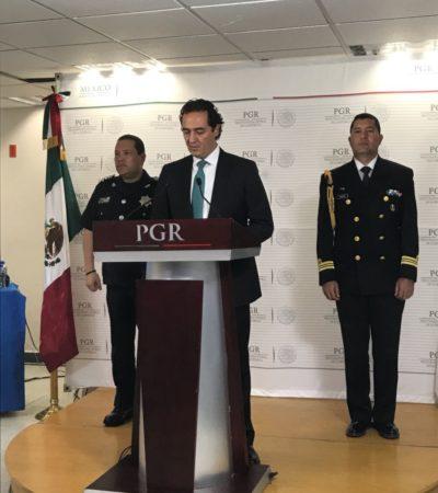CONFIRMA PGR ARTEFACTO EXPLOSIVO Y DESCARTA AUTORÍA DEL CRIMEN ORGANIZADO: Aún quedan pendientes diligencias y corroborar líneas de investigación en el caso Barcos Caribe, dice Subprocurador