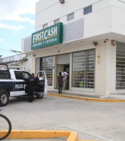 ASALTAN CASA DE EMPEÑO EN CANCÚN: Ladrones amagan a empleados de sucursal de 'First Cash' y se llevan un lote de joyas en la Región 98