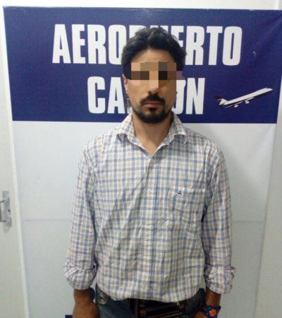 Hallan equipaje con droga en el aeropuerto de Cancún; detienen a un argentino