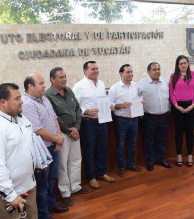Se registran Vila y Barrera como candidatos del PAN a la gubernatura y a la Alcaldía de Mérida