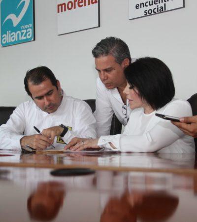 Presenta Gabriela Pallares solicitud de registro como candidata a la diputación federal por el Distrito 04 por la alianza 'Por México al Frente'