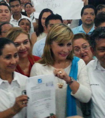 Susana Hurtado se registra por la Senaduría