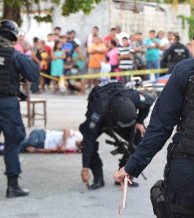 EJECUTADO EN LA 240 Y OTRO BALEADO EN LA 102: Sigue la ola de violencia durante el sábado en Cancún; suman 3 asesinatos en menos de 12 horas