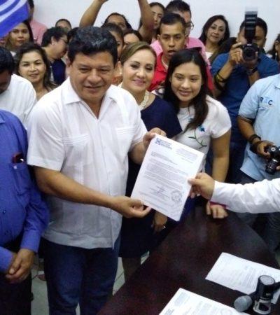 Se registra Luis Torres, aún Alcalde de OPB, como candidato a la diputación federal del Distrito 02