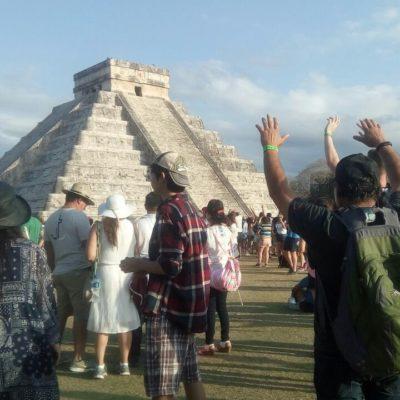 Reciben 14 mil personas el equinoccio de primavera en Chichén Itzá