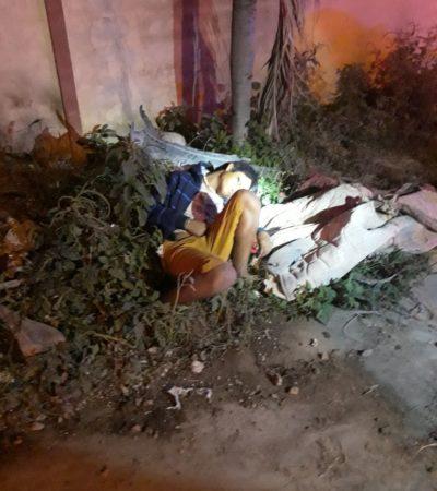 EJECUTADO EN LA COLONIA LAS LAJAS: Hallan en la madrugada cuerpo de joven baleado en la Región 211 de Cancún