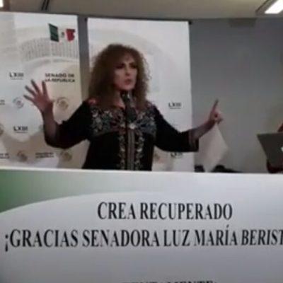 CARAVANA CON SOMBRERO AJENO: Pretende senadora Beristaín colgarse la 'medallita' de la recuperacion de los terrenos del CREA y le llueve en su milpita