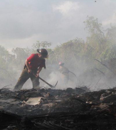 Sofocan incendio en basurero clandestino de la Región 209
