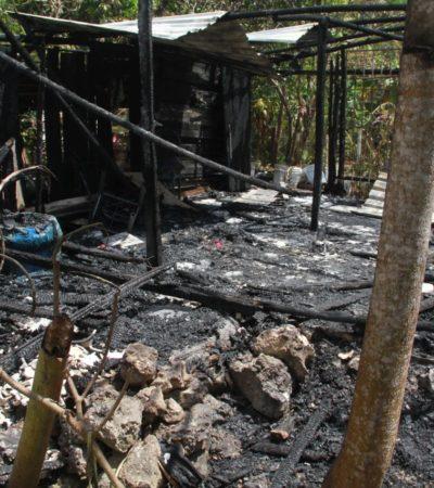 TRAGEDIA EN VALLE VERDE: Muere calcinada una mujer al incendiarse una palapa