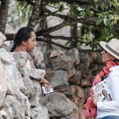 Marybel Villegas, en Tihosuco, la única que inició campaña formal en Viernes Santo
