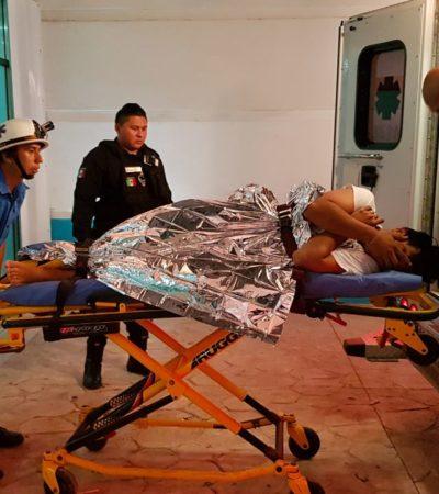 Balean a una persona en el fraccionamiento Villas Morelos de Puerto Morelos