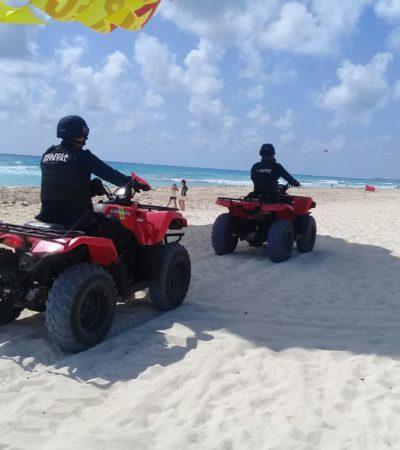 AMPLIO OPERATIVO DE SEGURIDAD EN DESTINOS DE QR: Miles de vacacionistas acuden a playas del Caribe en Semana Santa, mientras policías vigilan balnearios y carreteras
