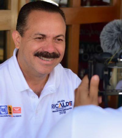 Pide Julián Ricalde seguir apostando por el cambio en Quintana Roo