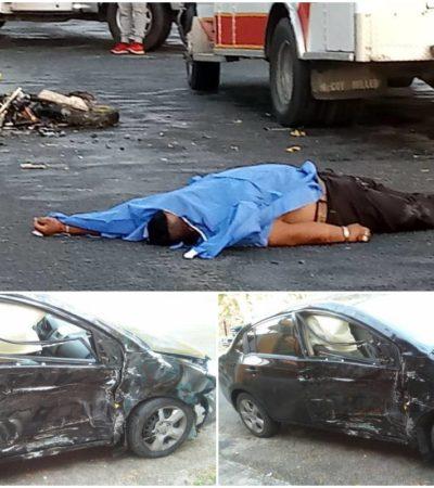 Presunto fiscal de la PGR atropella y mata a motociclista en Chetumal
