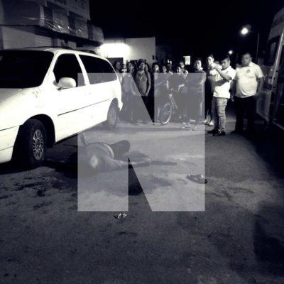 TRÁGICA RIÑA FAMILIAR: De una cuchillada, asesinan a un hombre en el fraccionamiento Misión de las Flores en Playa del Carmen