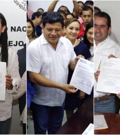 SE REGISTRAN CANDIDATOS DEL 'FRENTE' A DIPUTACIONES: Por la Zona Norte van Karla Romero y Gabriela Pallares, por el Sur, Luis Torres Llanes