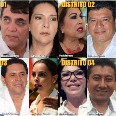 LISTAS, LAS TERNAS PARA DIPUTACIONES: Cuatro hombres disputarán a 8 mujeres los 4 distritos federales de Quintana Roo