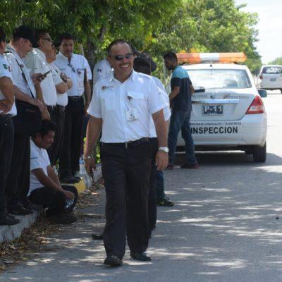 Anuncia Sintra suspensión de operativos o retenes de inspección del transporte en Cancún y Playa del Carmen