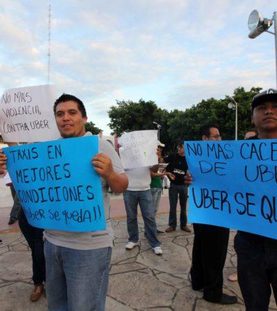 """""""ES MUY DESESPERANTE ESTA SITUACIÓN"""": La suspensión indefinida de Uber afecta y angustia a una centena de conductores en Cancún"""
