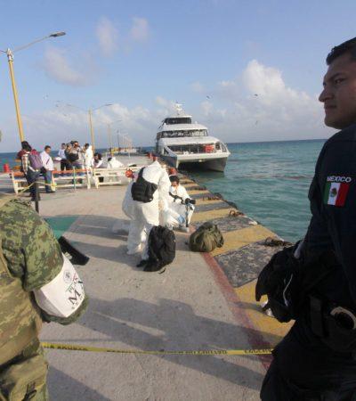 Envían a 60 policías federales para reforzar seguridad en puertos de Playa del Carmen y Cozumel