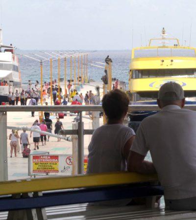 """""""VIAJAR POR FERRY NO OFRECE NINGÚN PELIGRO"""": Hoteleros cruzan de Playa a Cozumel para decirle al mundo que los barcos son seguros"""