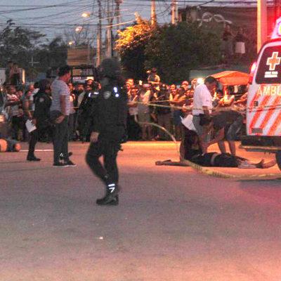 """""""LOS DEJARON ESCAPAR"""": Vecinos que presenciaron doble ejecución en la Región 95 denuncian que policías federales tuvieron enfrente a los sicarios cuando huían y no hicieron nada"""