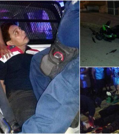 Detiene a rector de Uimqroo después de presuntamente arrollar a dos motociclistas en supuesto estado de ebriedad