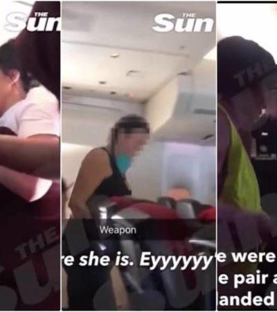 CACHONDEO DE ALTOS VUELOS: Camino a Cancún, una pareja de turistas fue sorprendida haciendo el amor en el baño de un avión; los detienen al aterrizar