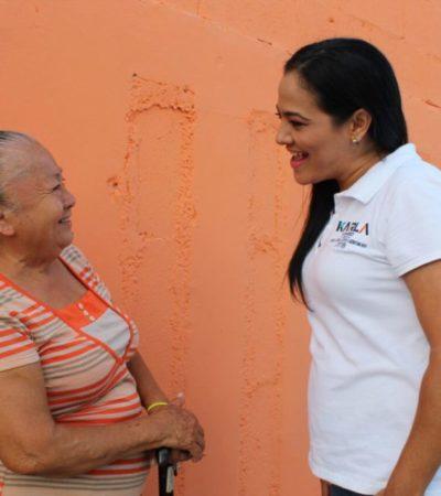 Acceso a bienes y servicios básicos son propuestas de Karla Romero, candidata a diputada por el 'Frente'