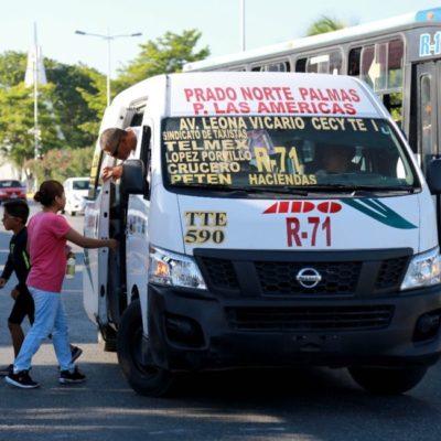 Analizan concesiones de transporte público en Benito Juárez