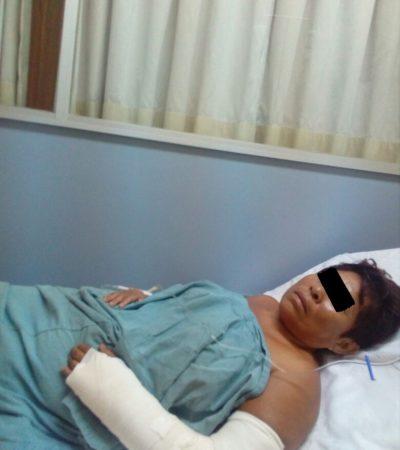 Acusan a candidata independiente en Cozumel de atropellar a mujer y abandonarla a su suerte