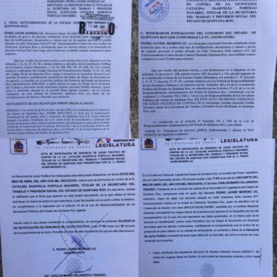 Denuncia ex funcionario a Catalina Portillo en la Fiscalía Anticorrupción