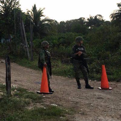 Hallan droga en dos cateos en las comunidades de Juan Sarabia y Xul Ha
