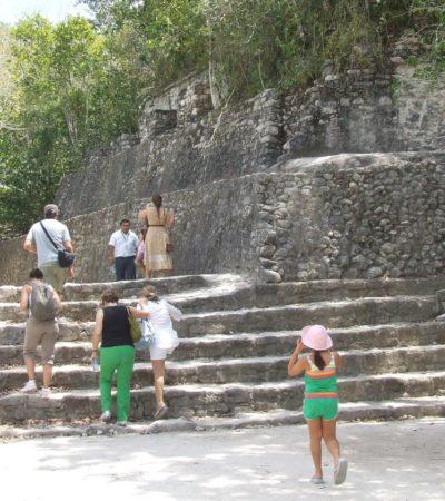 Baja afluencia turística en Cobá
