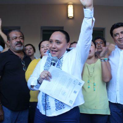 Se inscribe Cristina Torres para buscar la reelección en Solidaridad