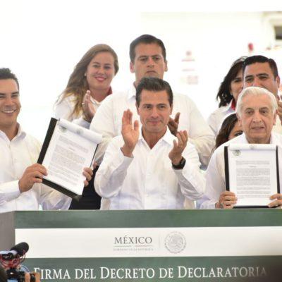 Anuncia Peña Nieto bolsa de 50 mil mdp para Tabasco y Campeche como parte de la inversión en las Zonas Económicas Especiales