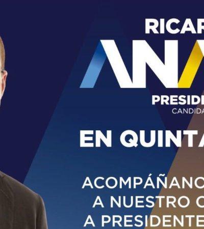 VISITA DE CANDIDATOS: Ricardo Anaya estará en Playa del Carmen el sábado 28 de abril