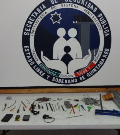 Hallan objetos ilegales en Cereso de Cozumel