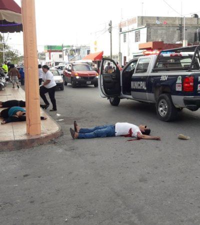 TRIPLE EJECUCIÓN EN BAR DE CANCÚN: Rafaguean a dos hombres y una mujer afuera del bar 'Las Canoas' de la Región 94