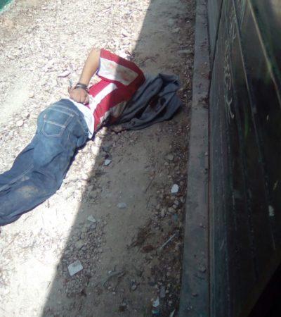 MATAN A BALAZOS A JOVEN EN LA R-259: Presunto enfrentamiento deja saldo de un muerto en la Avenida Leona Vicario de Cancún; detienen a dos