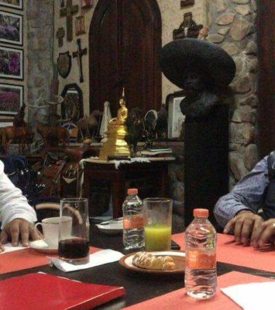 """""""DESAYUNANDO MACHACA CON MI AMIGO JAIME"""": Se une el candidato independiente de Cancún, Issac Janix a 'El Bronco'"""