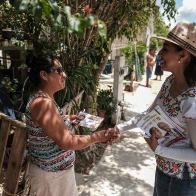 Marybel Villegas se compromete con ciudadanos de Puerto Aventuras a trabajar en la ley para que exista un equilibrio entre los factores de producción y la justicia social en las empresas de la Riviera Maya