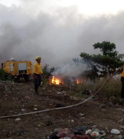 Sofocado a la mitad el incendio en el basurero de Calderitas