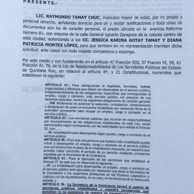 Piden inhabilitar a candidato a regidor en OPB por no comprobar destino de 300 mil pesos como funcionario