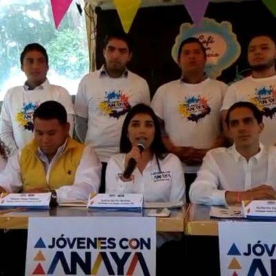 Van por votos de jóvenes para Anaya