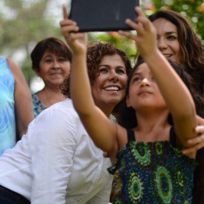 Ante mujeres de Cozumel, Leslie Hendricks se compromete a combatir la inseguridad y gestionar más recursos para el desarrollo del estado