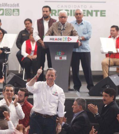 """Ante antorchistas, Meade propone frenar a AMLO porque """"pone en riesgo al país"""""""