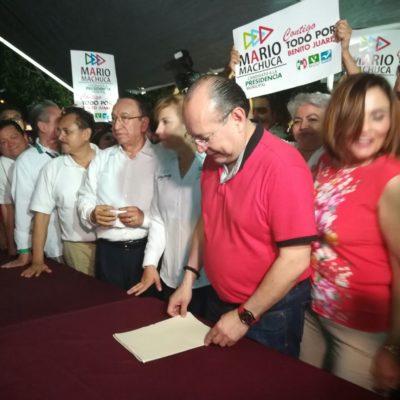 Completa Mario Machuca registro ante el Ieqroo para buscar la presidencia municipal de Benito Juárez