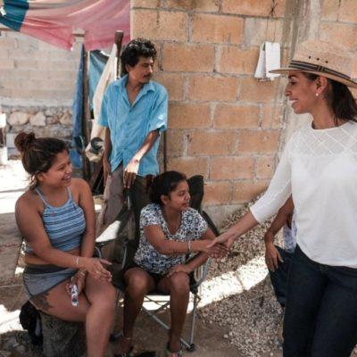 Para generar un cambio, hay que salir a votar este 1° de julio, dice Marybel Villegas en su recorrido en Playa del Carmen